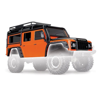Karo, Land Rover Defender, Adventure-Edition orange/schwarz TRAXXAS TRX-4 komplett - LIMITED EDITION